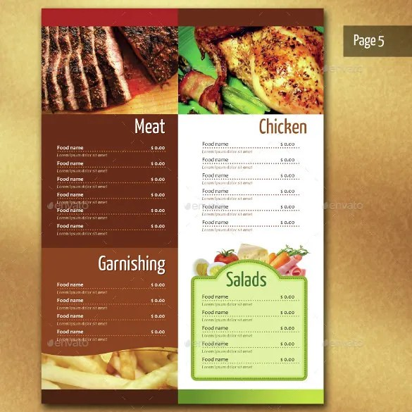 restaurant menus sample - Boatjeremyeaton - Sample Pizza Menu Template