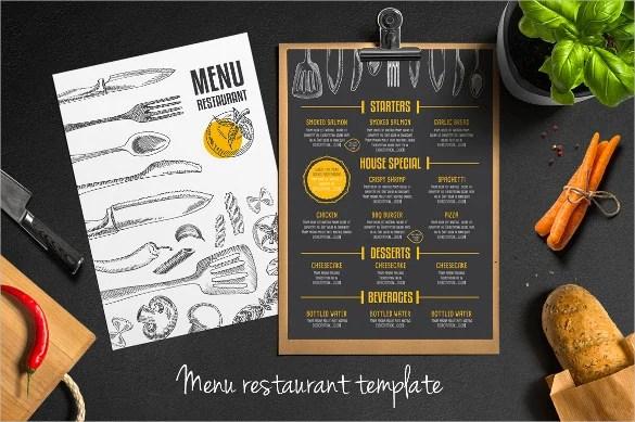 34+ Restaurant Menu Templates - Free Sample, Example Format Download