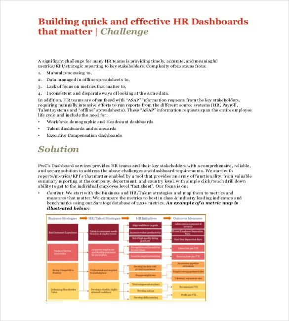 HR Dashboard Template - 21+ Free Word, Excel, PDF Documents Download