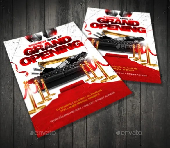 Grand Opening Flyer Template - 43+ Free PSD, AI, Vector EPS Format - Grand Opening Flyer
