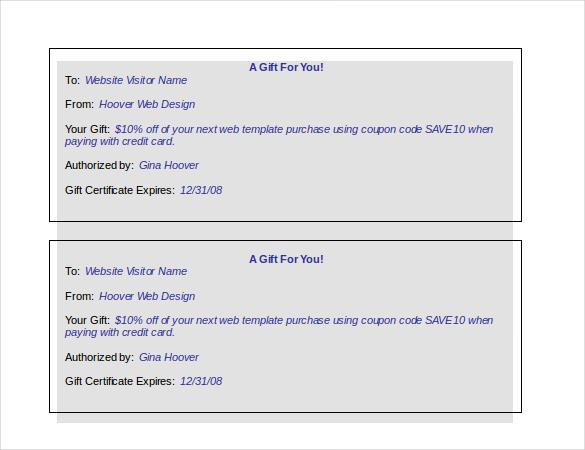Certificate Templates Gift Certificate Template u2013 34 Free Word