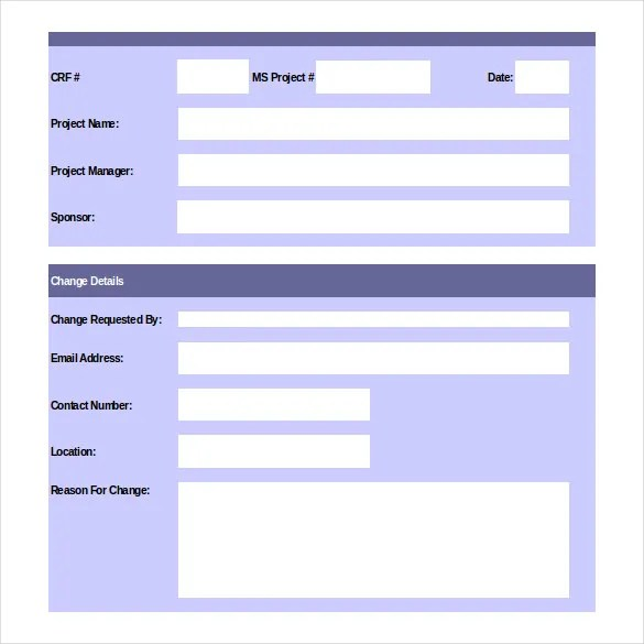 Change Order Template u2013 20+ Free Excel, PDF Document Free - change of address form template