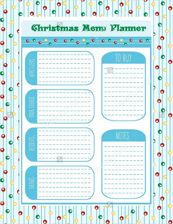 christmas dinner shopping list template – Sample Christmas List