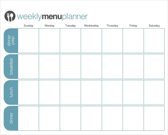 31+ Menu Planner Templates - Free Sample, Example Format Download