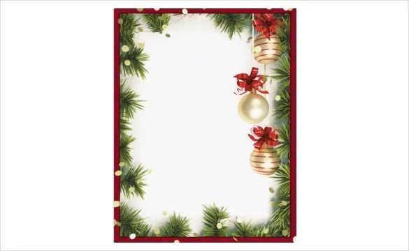 free holiday border templates microsoft word - Ozilalmanoof