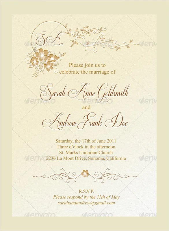 Wedding Menu Template - dinner party menu template