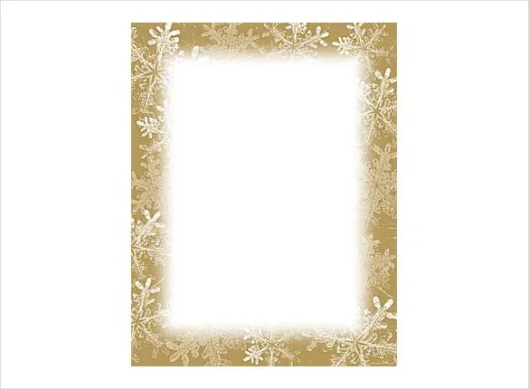 16+ Holiday Stationery Templates - Free PSD, Vector EPS, PNG Format - snowflake borders for word