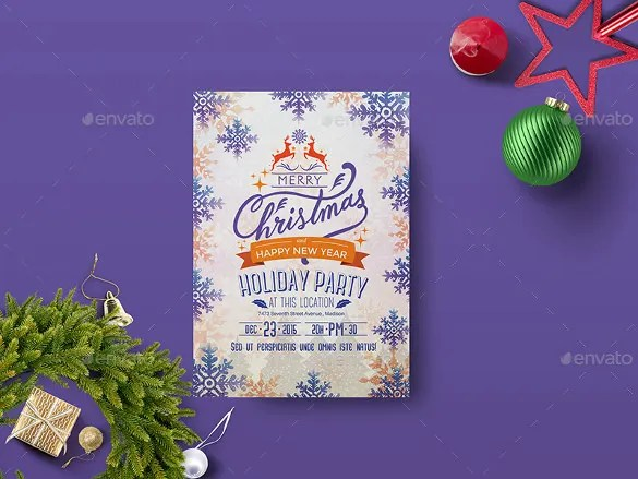 28+ Holiday Flyer Templates - Free PSD, Vector EPS, PNG Format - holiday party flyer template
