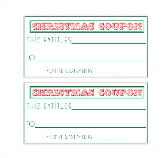 Homemade Coupon Templates \u2013 23+ Free PDF Format Download Free - printable coupon templates free