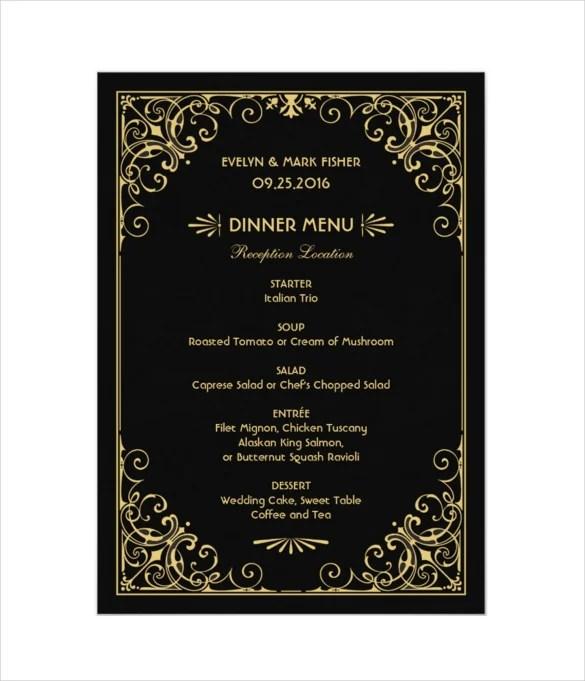 wedding menu cards template - Onwebioinnovate - wedding menu template