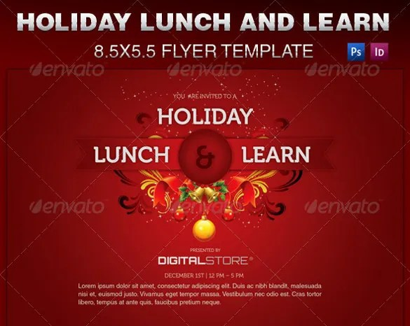 Free Holiday Flyer Templates Costumepartyrun