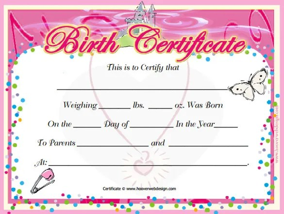 Birth Certificate Template - 44+ Free Word, PDF, PSD Format Download - Birth Certificate Template Printable