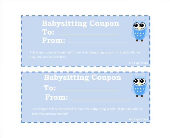 babysitting coupon printable