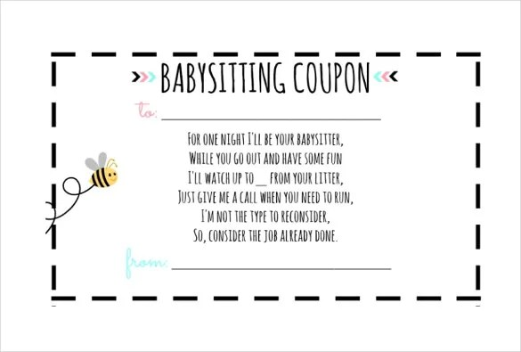 10+ Baby Sitting Coupon Templates \u2013 Free Sample, Example, Format - coupon template free printable