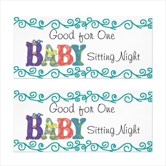 babysitting template