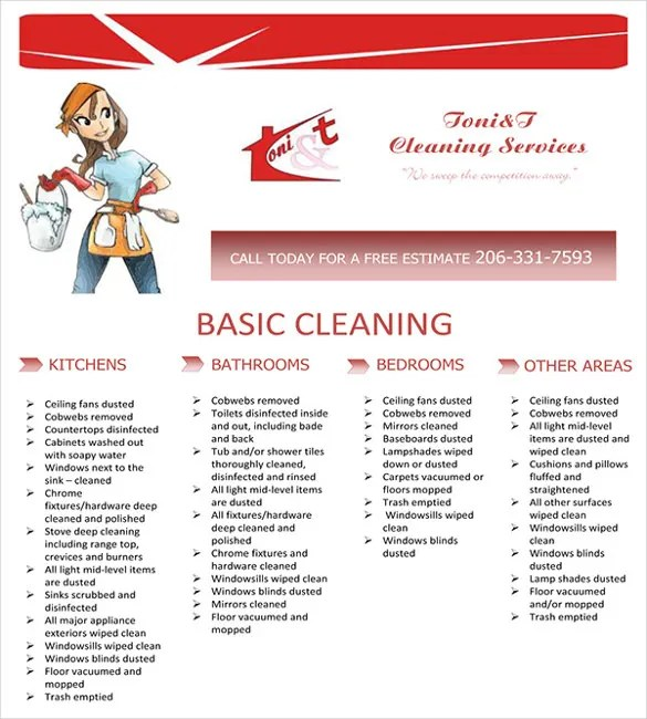 house cleaning flyers examples - Goalgoodwinmetals