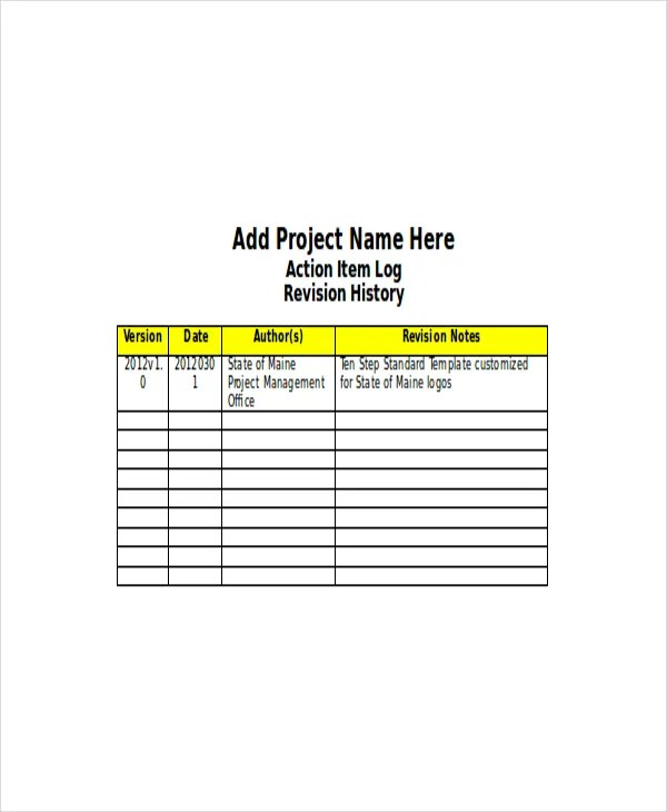 4+ Action Log Template - Free Word, Excel Documents Download Free