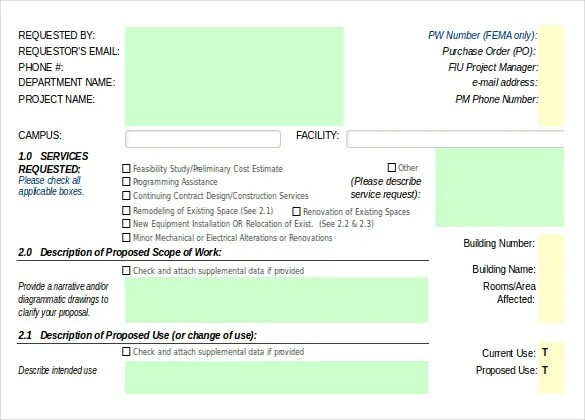 Construction Order Template \u2013 10+ Free Excel, PDF Documents Download