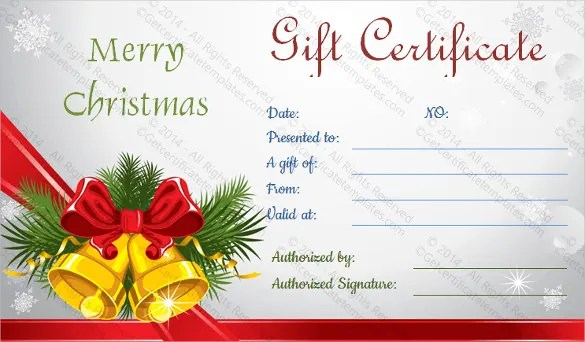 holiday gift certificates - Doritmercatodos - christmas gift certificates templates