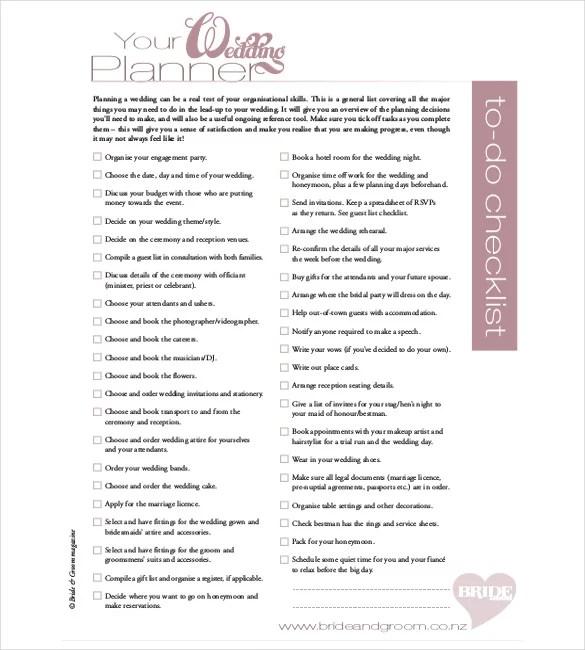 Wedding Timeline Template \u2013 35+ Free Word, Excel, PDF, PSD, Vector