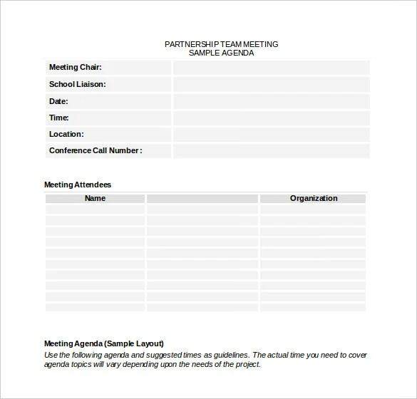 50+ Meeting Agenda Templates - PDF, DOC Free  Premium Templates
