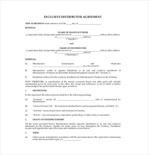 14+ Distribution Agreement Templates \u2013 Free Sample, Example, Format