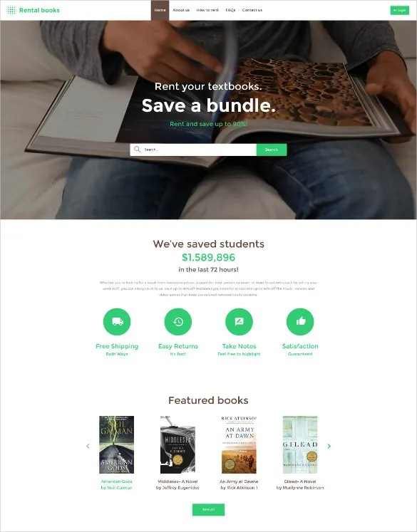 30+ Book Store Website Themes  Templates Free  Premium Templates