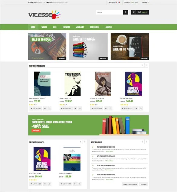 30+ Book Store Website Themes  Templates Free  Premium Templates