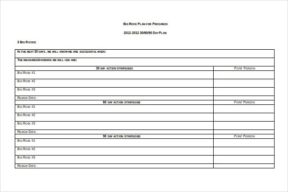 16+ 30 60 90 Day Action Plan Template - Free Sample, Example - action plan sample template