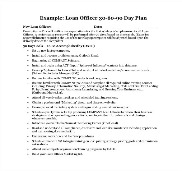 16+ 30 60 90 Day Action Plan Template - Free Sample, Example - 30 60 90 day action plan template