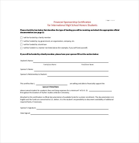 15+ Sponsorship Agreement Templates  2013 Free Sample, Example, Format - student contract templates