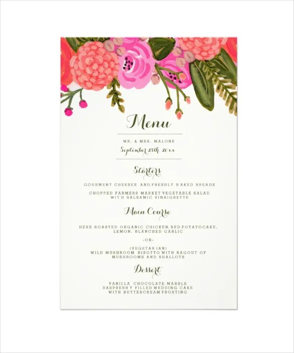 dinner party menu templates free download - Maggilocustdesign