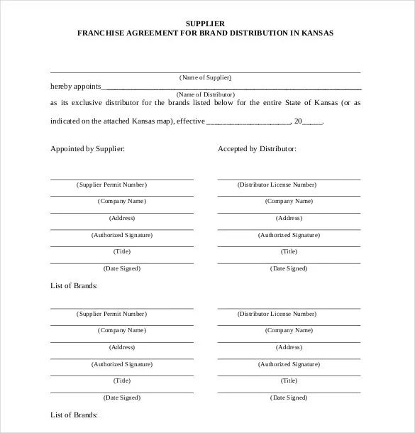 24+ Franchise Agreement Templates - Free Word, PDF Format Download