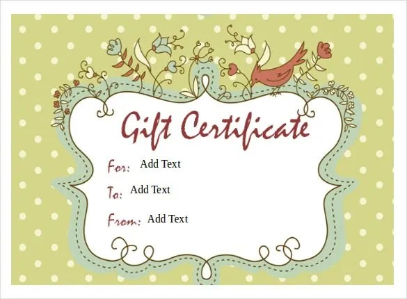 Blank Gift Vouchers Templates Free printable gift certificates