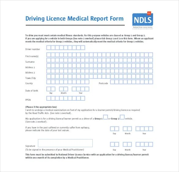 Medical Report Template - 9 Free Word, PDF Documents Download - free medical form