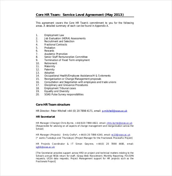 HR Agreement Templates - 10+ Free Sample, Example, Format Download