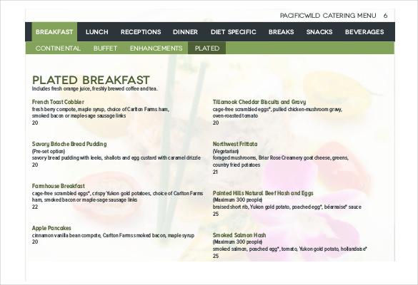 23+ Catering Menu Templates - AI, PSD, Google docs, Apple pages
