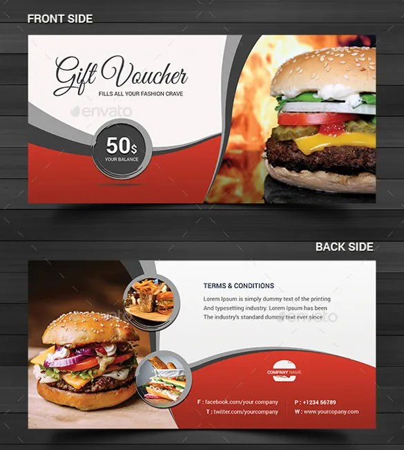 23+ Gift Coupon Templates u2013 Free Sample, Example, Format Download - food voucher template