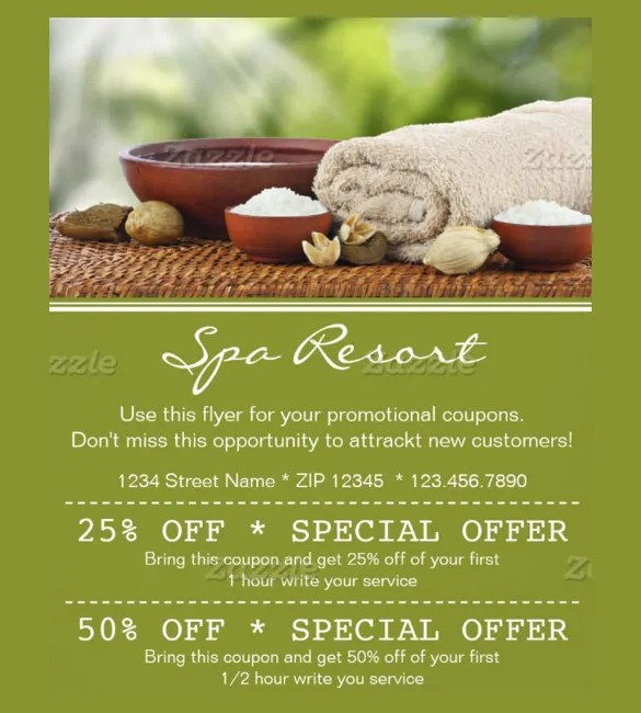 spa coupon template - Onwebioinnovate