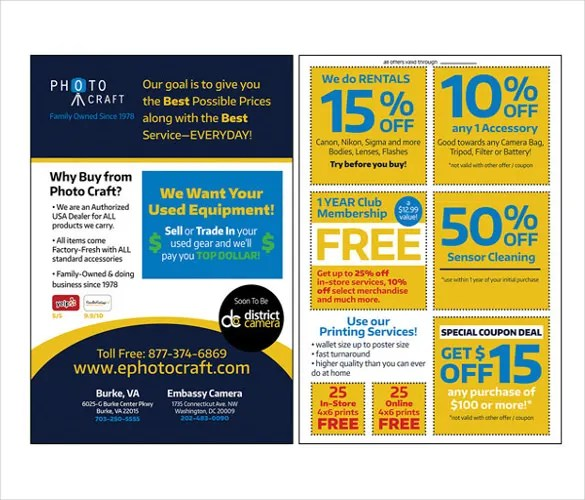 21+ Coupon Flyer Templates \u2013 Free Sample, Example, Format Download