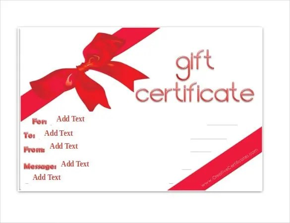 Gift Certificate Template - 42+ Examples in PDF, Word In Design - gift certicate template