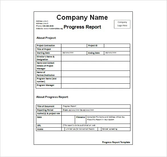 weekly report format - Gottayotti
