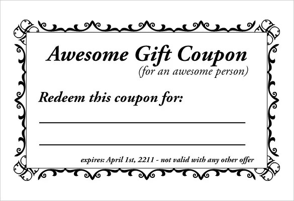 28+ Homemade Coupon Templates \u2013 Free Sample, Example, Format