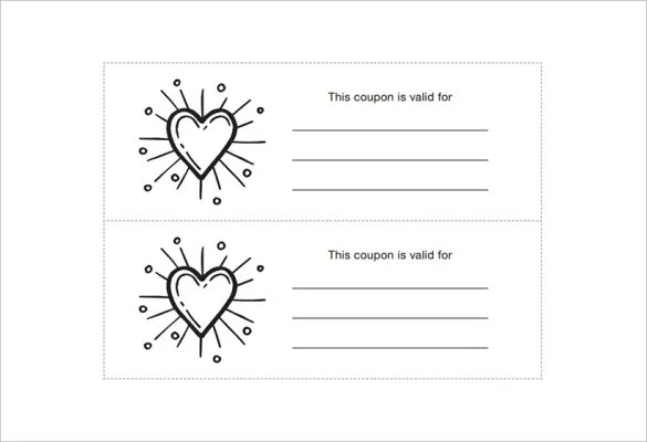 28+ Homemade Coupon Templates \u2013 Free Sample, Example, Format - coupon sample template