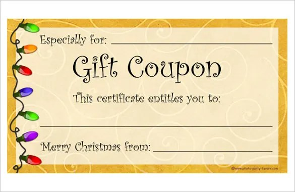 Christmas Coupons Template  NodeCvresumePaasproviderCom