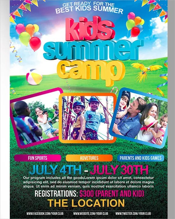 summer camp flyer template free - Ozilalmanoof - Summer Camp Flyer Template