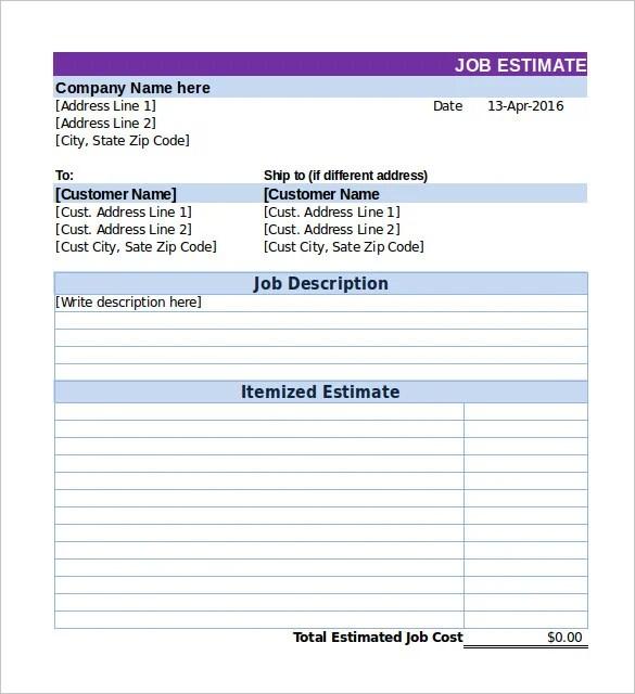 estimate job - Alannoscrapleftbehind