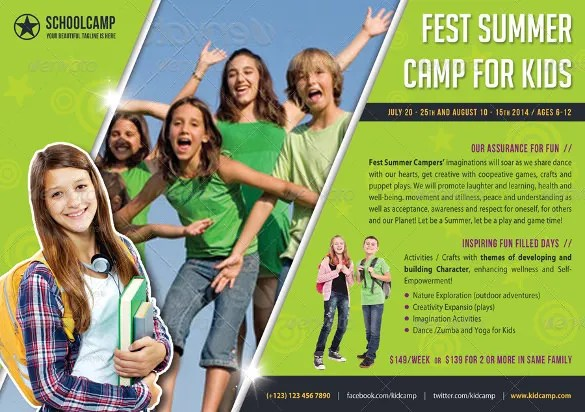 Summer Camp Flyer Templates \u2013 43+ Free JPG, PSD, ESI, InDesign - Summer Camp Flyer Template