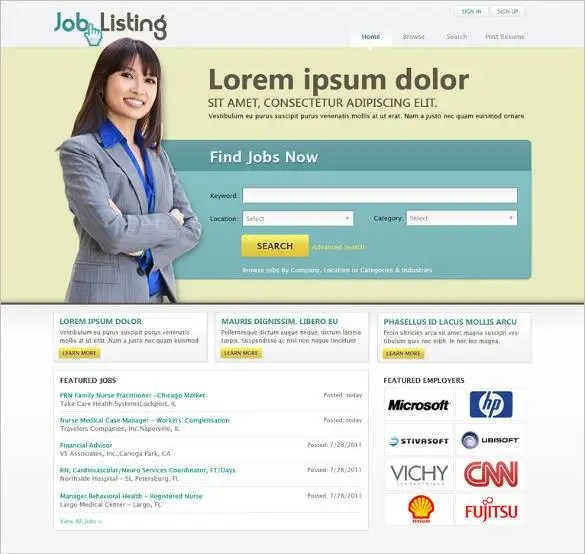 37+ Free PHP Website Templates  Themes Free  Premium Templates - php templates