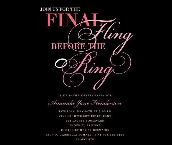 Bachelorette Party Invitations Templates u2013 gangcraftnet - free party invitations templates online